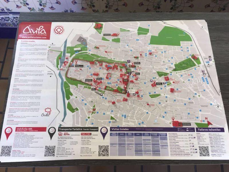 アビラの地図