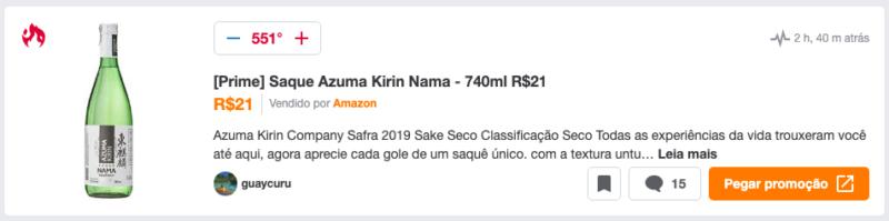 Saque Azuma Kirin Nama